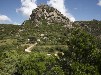 Monti Longu  Località Monti Longu - Comune di Olbia  Stazzu Monti Longu e sullo sfondo il monte
