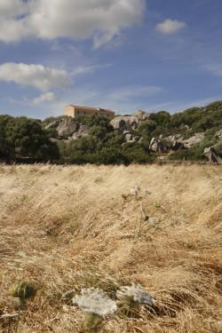 La casa a palazzo  Località SP115/Monti Mazzolu - Comune di Arzachena   Campi di fieno secco e stazzo a palazzetto
